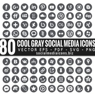 Cool Gray Vector Icons