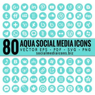 Round Vector Social Media Icons