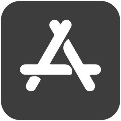 Applestore dark gray social media icon