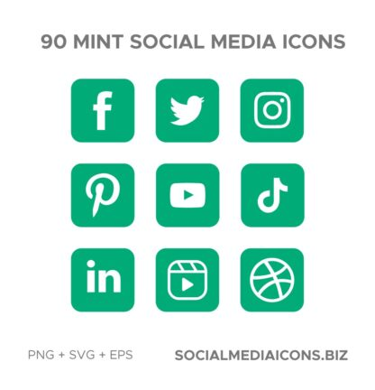 90 Mint square Icons