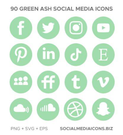 Green Ash - social media icons