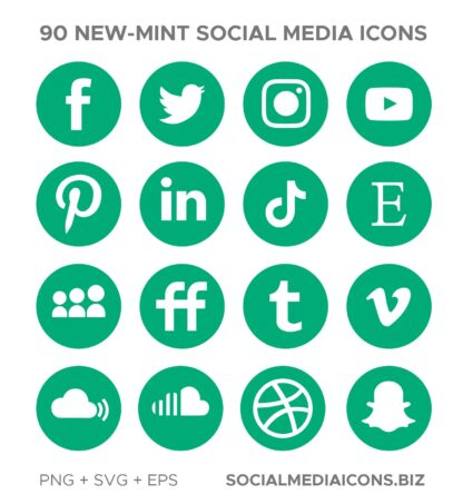 Mint Social Media Icons