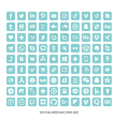 Aqua Splash Rounded Square icons