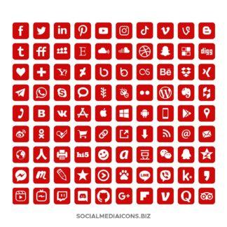 Red social Media Icons