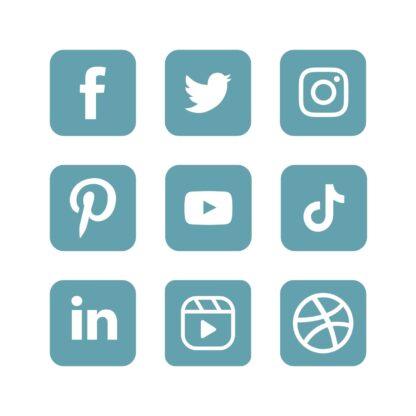 Aqua - social media icons