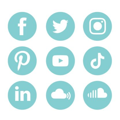 Aqua Splash social media icons