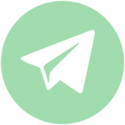 telegram - green ash social media icon
