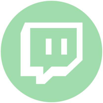 twich - green ash social media icon